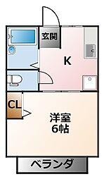 シティハイム太子苑[2階]の間取り