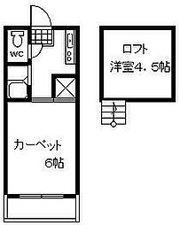 宮崎県宮崎市清武町加納1丁目の賃貸アパートの間取り