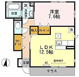 京ROYAL~ロイヤル~ 1階1LDKの間取り