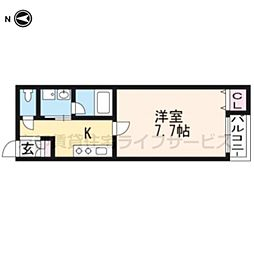 A-mon太秦天神川[2階]の間取り