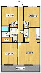 リュウ 壱番館[2階]の間取り
