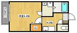 リブレア津福本町B[201号室号室]の間取り