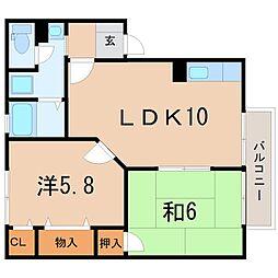 滋賀県栗東市辻の賃貸アパートの間取り