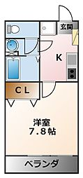 ロクサーヌ浜甲子園[2階]の間取り
