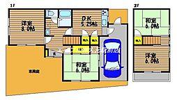 [一戸建] 岡山県岡山市南区福田丁目なし の賃貸【/】の間取り