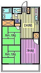 エスポワールヨシダ[2階]の間取り