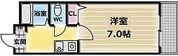 大阪府東大阪市三ノ瀬1丁目の賃貸マンションの間取り