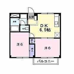 カーサ・タナカ[2階]の間取り