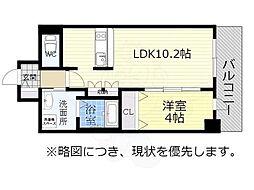 アドバンス名古屋モクシー 14階1LDKの間取り