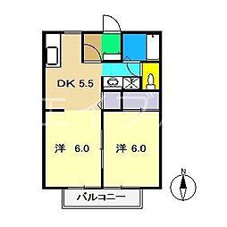 カーサ150B棟[1階]の間取り