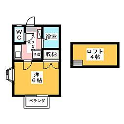 ネクステージ西川田第5[2階]の間取り