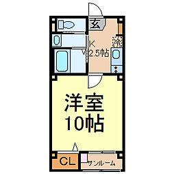J's aoi[5階]の間取り