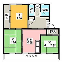 リバーサイドハイツ丸山A[5階]の間取り