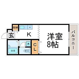 メゾングリック[2階]の間取り