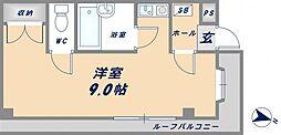 シャンスー源氏ケ丘[102号室]の間取り