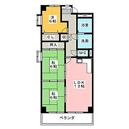 ベルビレッジ上汐田[3階]の間取り