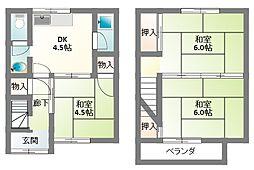 [テラスハウス] 大阪府寝屋川市高柳3丁目 の賃貸【/】の間取り