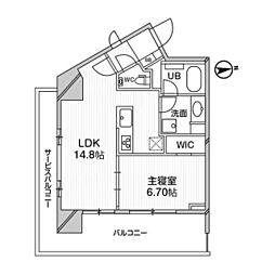 M白金台 10階1LDKの間取り