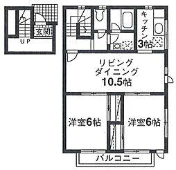 戸塚区前田町 コンセール201号室[2階]の間取り