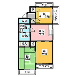 オレンジハウス[3階]の間取り