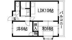 ライフイン宝塚3[4階]の間取り