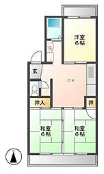 愛知県名古屋市守山区脇田町の賃貸マンションの間取り