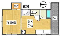 東峰荘[3階]の間取り