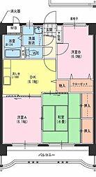 サングリーン藤沢II[402号室]の間取り
