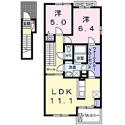 安東3丁目アパート[201号室]の間取り