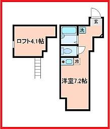 東京都葛飾区小菅2の賃貸アパートの間取り