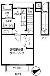 ベルデュール常盤[2階]の間取り