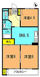 ミツイマンション[402号室]の間取り