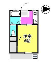 プラムハイム市川2[1階]の間取り