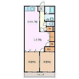 第3富士コーポ[2階]の間取り