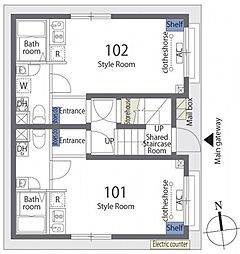 カーサデジョイアス 3階ワンルームの間取り