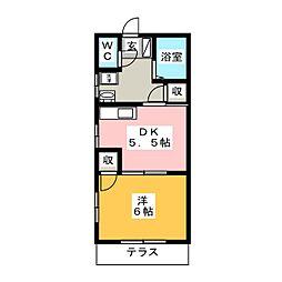 エクセル倉賀野A[1階]の間取り