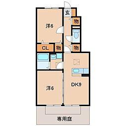 和歌山県和歌山市神波の賃貸アパートの間取り