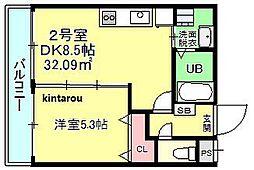 Nameki Mansion[202号室]の間取り