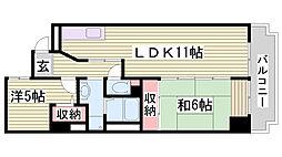ミリオンベル神戸[7階]の間取り