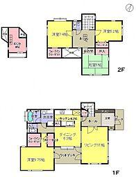 [一戸建] 神奈川県横浜市都筑区牛久保東1丁目 の賃貸【/】の間取り