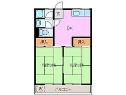 コーポ広永[2階]の間取り
