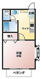 マシャンブル大野[2階]の間取り