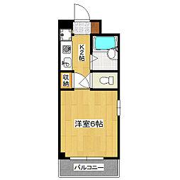 ブリスアビタシオン[4階]の間取り