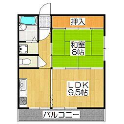 ドミール松田[30C号室]の間取り