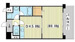 ルミエール野田[102号室]の間取り