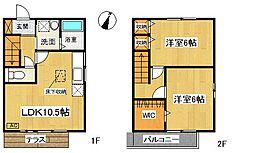 [タウンハウス] 神奈川県大和市上草柳5丁目 の賃貸【神奈川県 / 大和市】の間取り