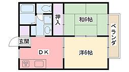 カーサピネータ[203号室]の間取り