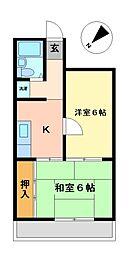 片岡ハウス[4階]の間取り