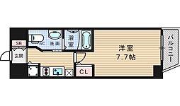 エステムコート南堀江IIIチュラ[8階]の間取り