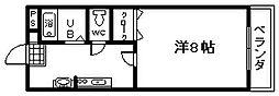 サンモール[203号室]の間取り
